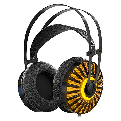 Gaming Headset with Unique Metal Diaphragm and Mic,Provides Excellent 7.1 Virtual Surround Stereo Sound for PC Laptop PlayStation 4 X-box one(Splitte Included)for Christmas gift