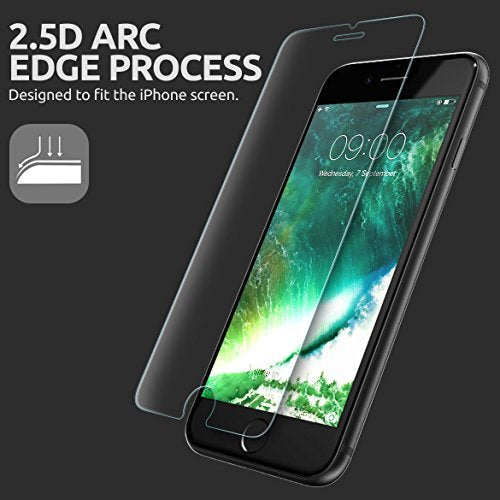 SUPCASE iPhone 8 Plus Screen Protector, Premium HD Tempered Glass Screen Protector (2-Pack) (Compatible with Apple iPhone 8 Plus/ 6 Plus/6s Plus/7 Plus)