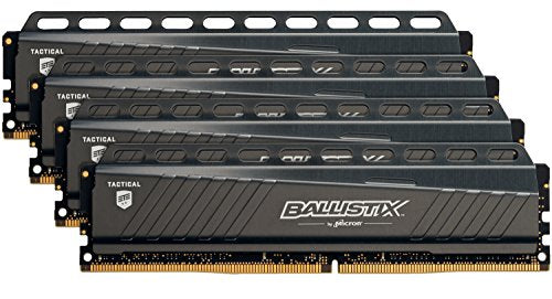Ballistix Tactical 64GB Kit (16GBx4) DDR4 3000 MT/s (PC4-24000) DR x8 DIMM 288-Pin - BLT4K16G4D30AETA