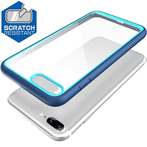 iPhone 8 Plus Case, SUPCASE Unicorn Beetle Style Premium Hybrid Protective Clear Bumper Case [Scratch Resistant] for Apple iPhone 7 Plus 2016 / iPhone 8 Plus 2017 Release - Navy