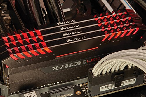 Corsair Vengeance 64GB (4x16GB) DDR4 3200 C16 for Intel 100, Red LED (CMU64GX4M4C3200C16R)