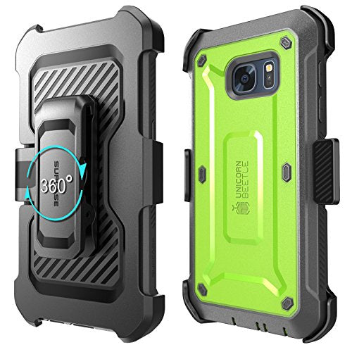 Galaxy S7 Case, SUPCASE Full-body Rugged Holster Case with Built-in Screen Protector for Samsung Galaxy S7 (2016 Release), Unicorn Beetle PRO Series - Retail Package (green/Gray)