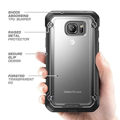 Galaxy S7 Active Case, SUPCASE Unicorn Beetle Series Premium Hybrid Protective Clear Case for Samsung Galaxy S7 Active 2016 Release (NOT COMPATIBLE with Galaxy S7) (Frost/Black)