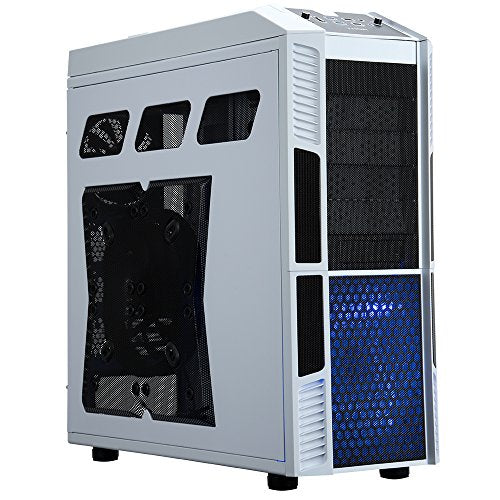 Rosewill Gaming ATX Full Tower Computer Case Cases THOR V2-W Black, white