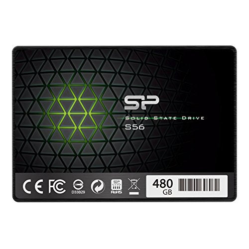 Silicon Power 480GB S56 (SLC Cache Speed Boost with R/W up to 500/490 MB/s) SATA III Internal Solid State Drive- Free-download SSD Health Monitor Tool Included
