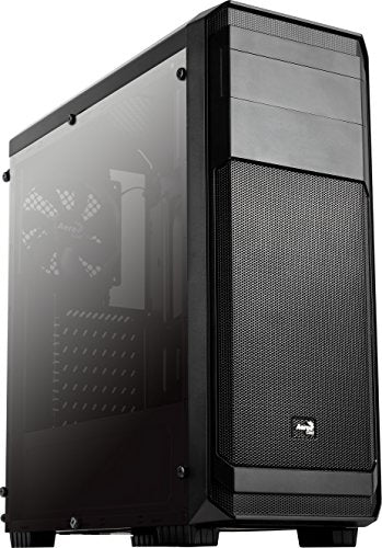 AeroCool Aero300FAW Full Acrylic Window Mid Tower Case Black