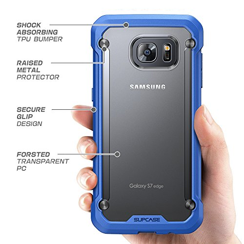 Galaxy S7 Edge Case, SUPCASE Unicorn Beetle Series Premium Hybrid Protective Case for Samsung Galaxy S7 Edge 2016 Release, Retail Package (Frost/Blue)