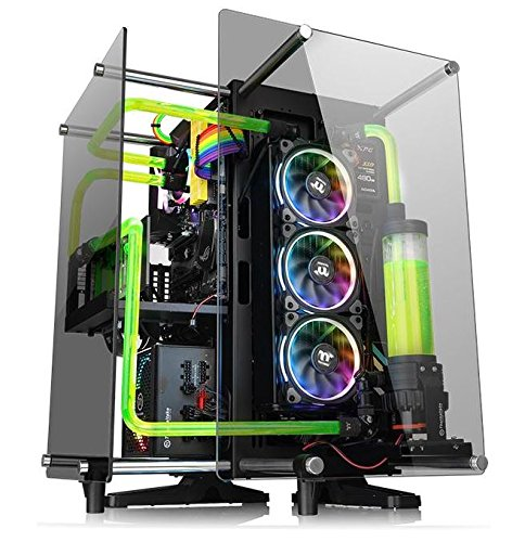 Thermaltake Core P90 Tempered Glass Black ATX Mid Tower Open Frame Viewing Tt LCS Certified Gaming Computer Case CA-1J8-00M1WN-00