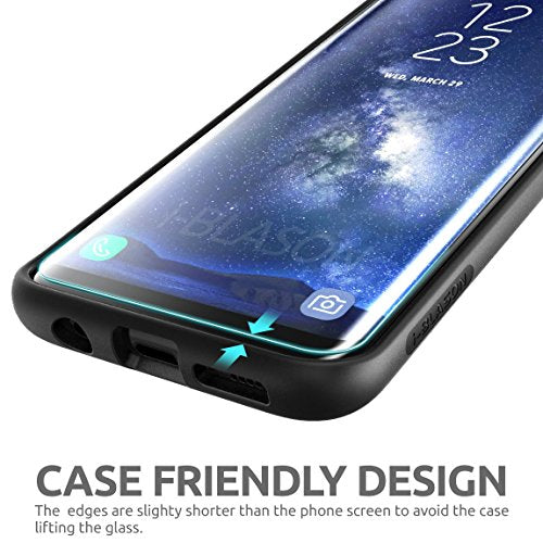 Galaxy S8 Screen Protector, SUPCASE [Case Friendly] Tempered Glass Screen Protector for Samsung Galaxy S8 [Updated Version]