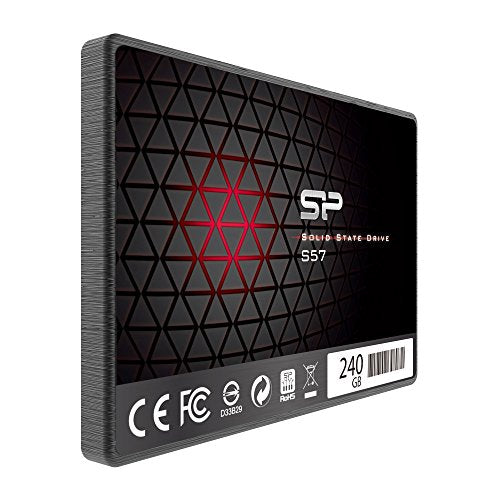 Silicon Power/Marvell Controller 240GB S57 (SLC Cache Performance Boost) SATA III Internal Solid State Drive- Free-download SSD Health Monitor Tool Included (SP240GBSS3S57A25AE)