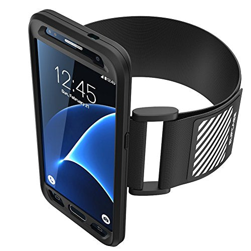 Galaxy S7 Armband, SUPCASE Easy Fitting Sport Running Armband with Premium Flexible Case Combo for Samsung Galaxy S7 2016 Release (Black)