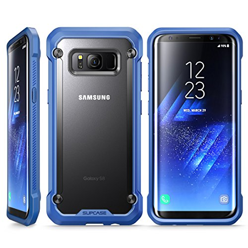 Samsung Galaxy S8 Case, SUPCASE Unicorn Beetle Series Premium Hybrid Protective Frost Clear Case for Galaxy S8 2017 Release, Retail Package (Frost/Blue)