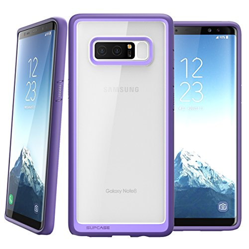 SUPCASE Samsung Galaxy Note 8 Unicorn Beetle Style Premium Hybrid Protective Clear Case 2017 Release - Purple