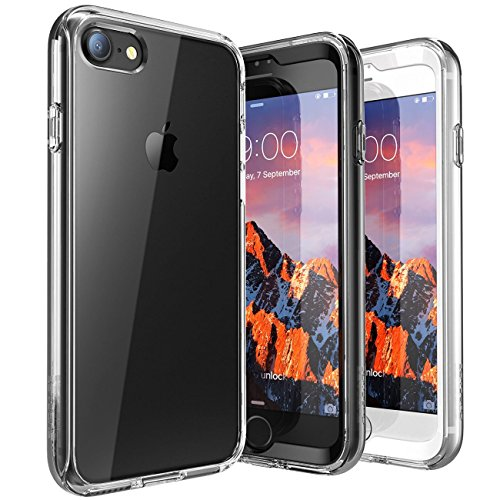 iPhone 7 Case, iPhone 8 Case, SUPCASE Ares Bumper Case includes 2 interchangeable front casings with Built-in Screen Protector for Apple iPhone 7 2016 / iPhone 8 2017, Clear