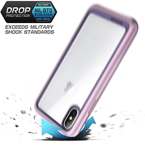 SUPCASE iPhone X Case, Unicorn Beetle Style Premium Hybrid Protective Clear Case for Apple iPhone X / iPhone 10 2017 Release (Purple)