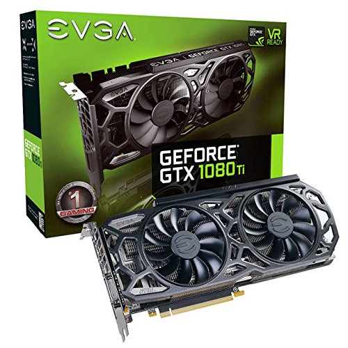 EVGA GeForce GTX 1080 Ti SC Black Edition GAMING, 11GB GDDR5X, iCX Cooler & LED, Optimized Airflow Design, Interlaced Pin Fin Graphics Card 11G-P4-6393-KR-