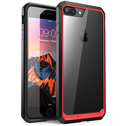 iPhone 8 Plus Case, SUPCASE Unicorn Beetle Series Premium Hybrid Protective Clear Case for Apple iPhone 7 Plus 2016 / iPhone 8 Plus 2017 Release (Red/Black)