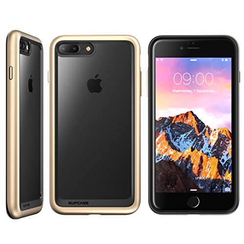 iPhone 8 Plus Case, SUPCASE Unicorn Beetle Style Premium Hybrid Protective Clear Bumper Case [Scratch Resistant] for Apple iPhone 7 Plus 2016 / iPhone 8 Plus 2017 Release - Gold