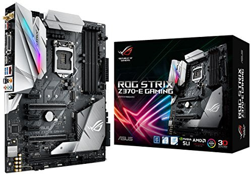 ASUS ROG STRIX Z370-E GAMING LGA1151 DDR4 DP HDMI DVI M.2 Z370 ATX Motherboard with onboard 802.11ac WiFi and USB 3.1 for 8th Generation Intel Core Processors