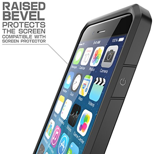 iPhone 6S Plus Case , SUPCASE Also Fit Apple iPhone 6 Plus Case [Unicorn Beetle] Clear Hybrid Protective Bumper Case (Frost/Black/Black)