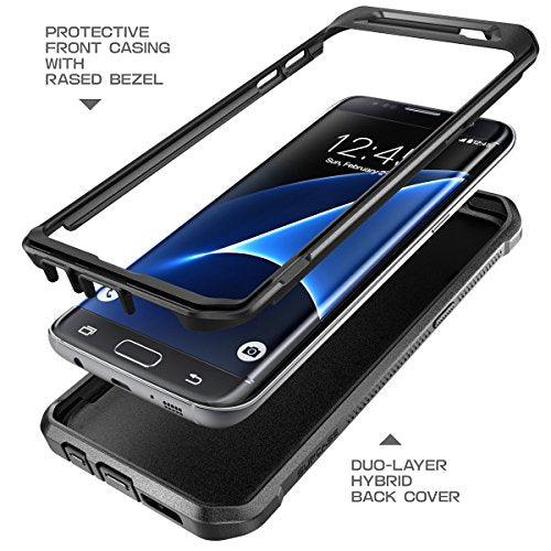 Galaxy S7 Edge Case, SUPCASE Full-body Rugged Holster Case WITHOUT Built-in Screen Protector for Samsung Galaxy S7 Edge (2016 Release), Unicorn Beetle PRO Series - Retail Package (Black/Black)