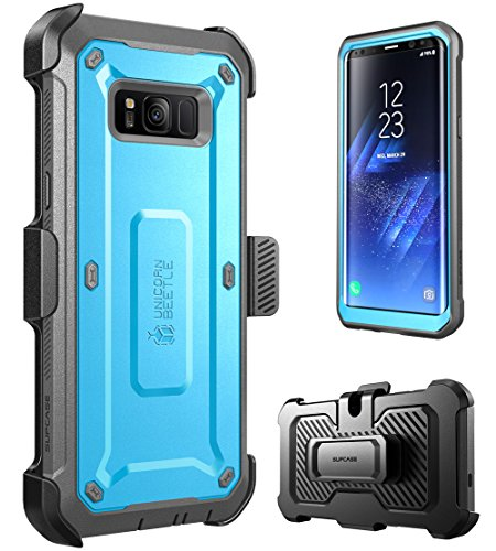 SUPCASE Samsung Galaxy S8+ Plus Case, Full-body Rugged Holster Case WITHOUT Screen Protector for Galaxy S8+ Plus (2017 Release), Unicorn Beetle PRO Series - Retail Package (Blue/Black)