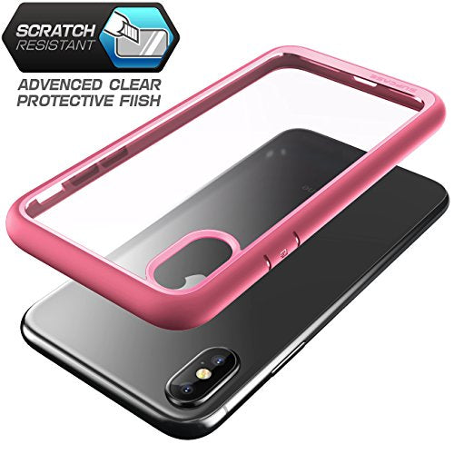 SUPCASE iPhone X Case, Unicorn Beetle Style Premium Hybrid Protective Clear Case for Apple iPhone X 2017 Release -Pink