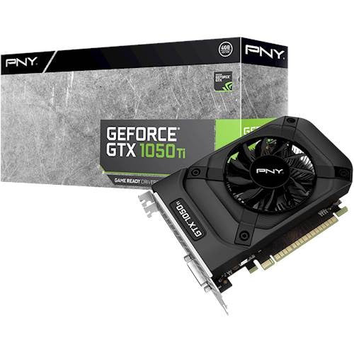 QTY:30 Available 02/20 PNY - NVIDIA GeForce GTX 1050 Ti 4GB GDDR5 PCI Express 3.0 Graphics Card - Black
