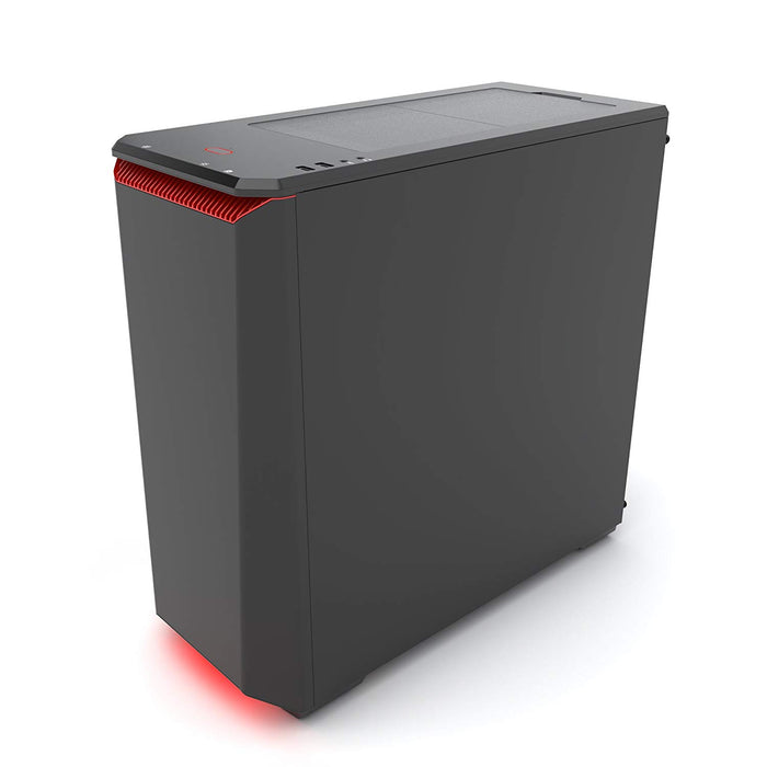 Phanteks Eclipse P400S Silent Edition with Tempered Glass, Black/Red Cases