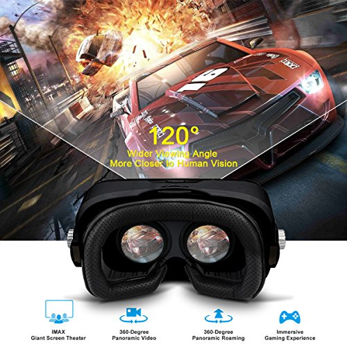 SMAVR 3D VR Immersive Headset Glasses, Virtual Reality Viewer Helmet Goggles