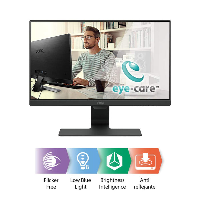BenQ GW2480 Eye Care 24 inch IPS 1080p UltraSlim Monitor | Optimized for Home & Office with Adaptive Brightness Technology | Speakers