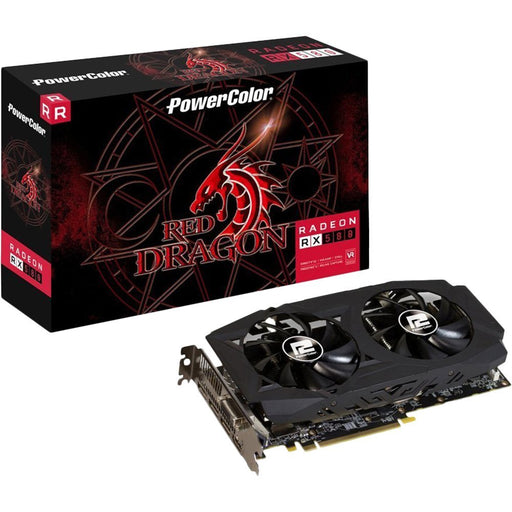 PowerColor AXRX 580 8GBD5-3DHDV2/OC AMD Radeon RX 580 8GB Red Dragon V2 Graphics Card