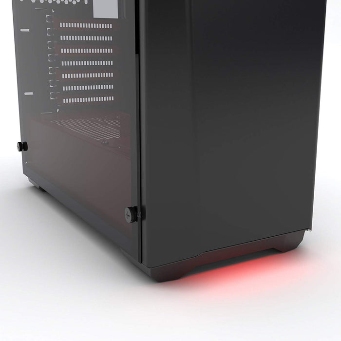 Phanteks PH-EC416PTG_BR Eclipse P400 Steel ATX Mid Tower Case Black/Red, Tempered Glass Edition Cases