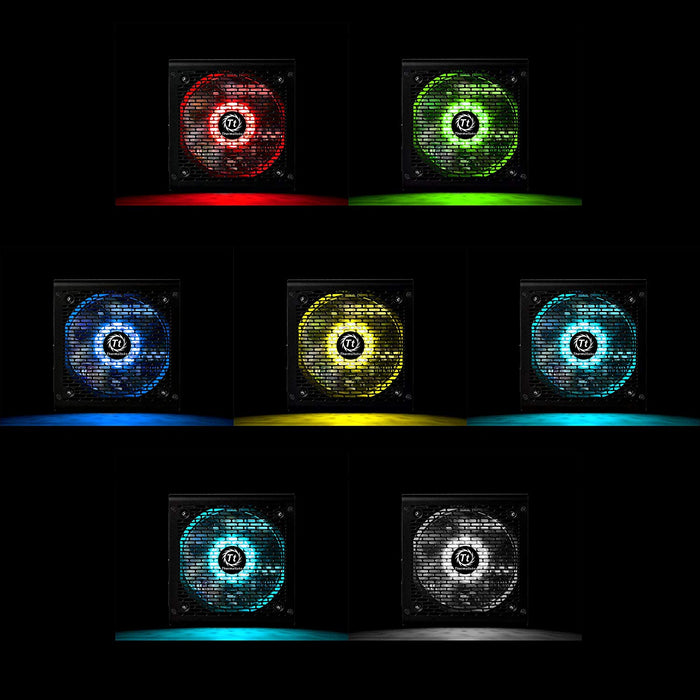 Thermaltake Smart RGB 700W 80+ 256-Color RGB Fan ATX 12V 2.3 Kaby Lake Ready Power Supply 5 Yr Warranty Power Supply PS-SPR-0700NHFAWU-1