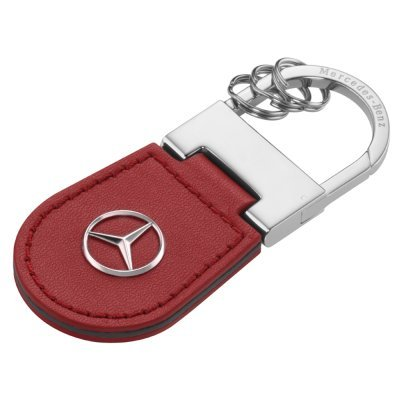 Original Mercedes-Benz Shanghai, Key Ring, Stainless Steel/Leather, Feueropal