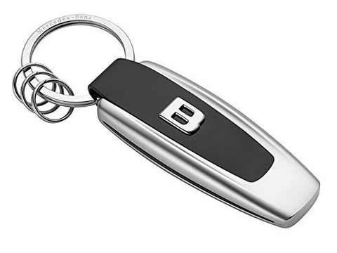 original Mercedes-Benz, Keyring, Typo B class Stainless steel, silver colored / black