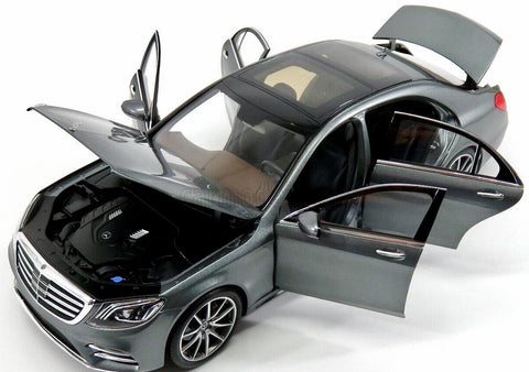 NOREV - MERCEDES-BENZ - S-CLASS (V222) MOPF 2017 SELENTINE GRAY 1:18 B66961272 HIGH QUALITY DETAILED DIECAST MODEL