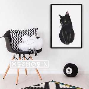 Black Cat Art Poster