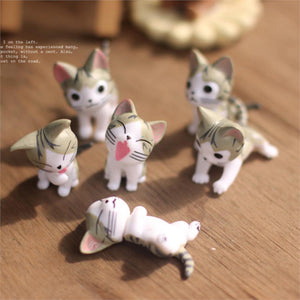 Mini Meow Cat Figures - 6pcs