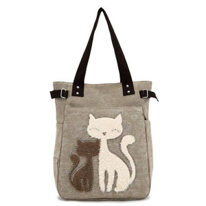 Meow Canvas Handbag