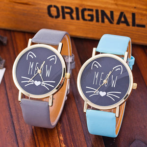 Meow Cat Watch Casual