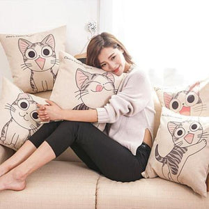 Meow Cat Pillow
