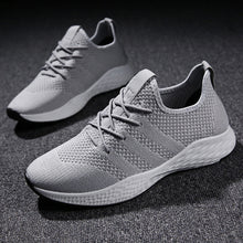 Red Black Gray Soft Mesh Men Shoes Sneakers