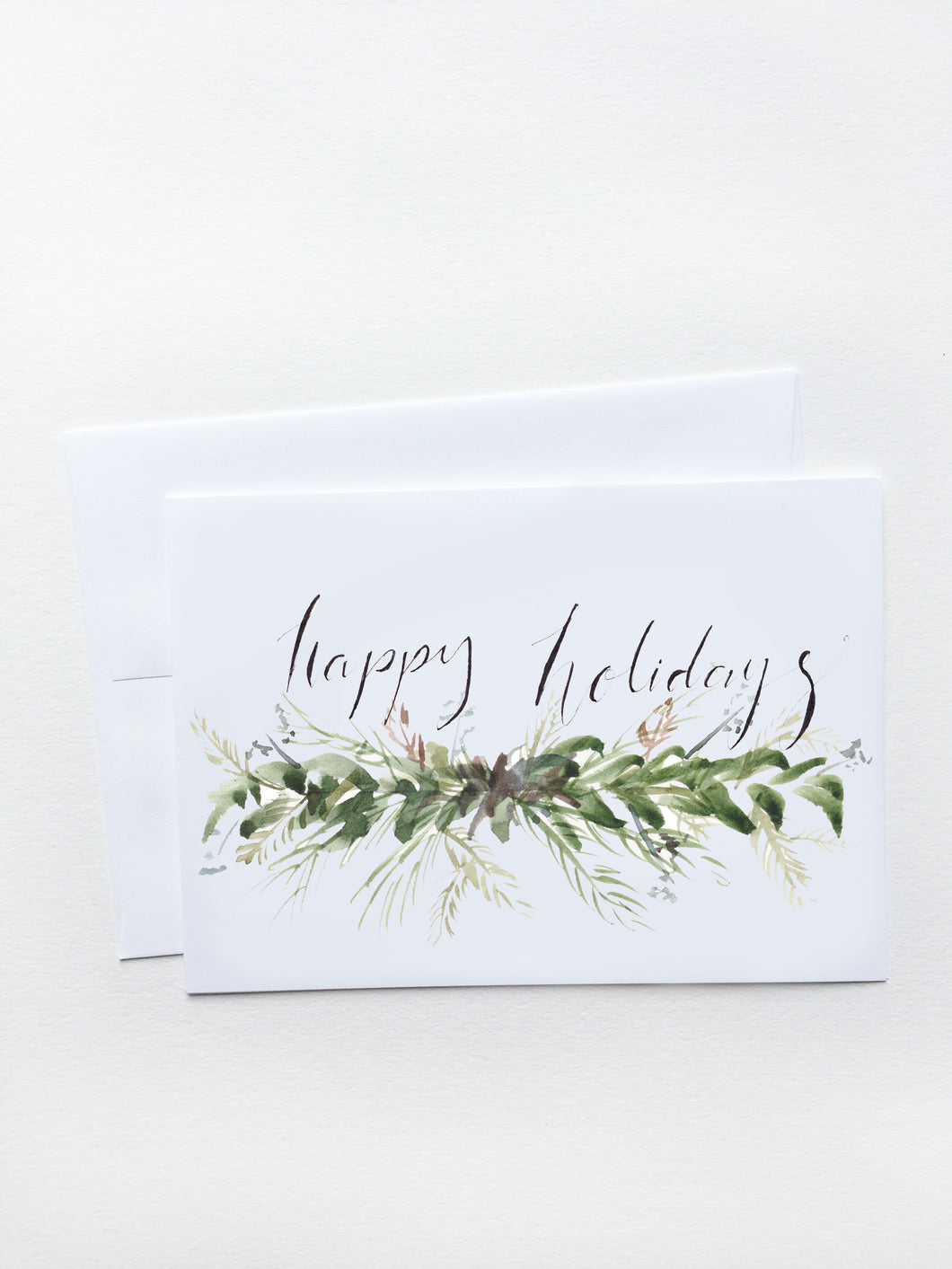 Happy Holidays Fir Garland Card