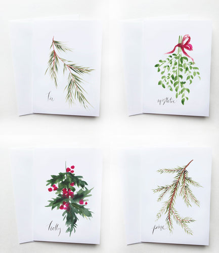 Holiday Foliage Card Pack (4 Cards)