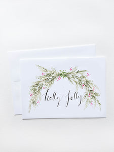 Holly Jolly Garland Holiday Card