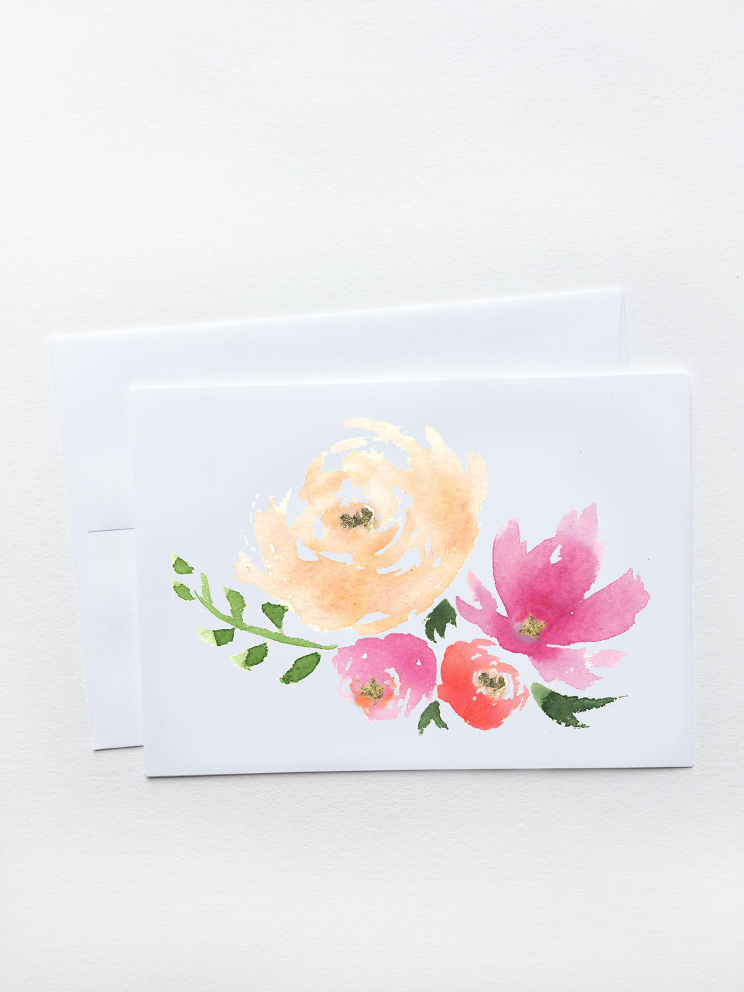 Peach & Purple Bouquet Card