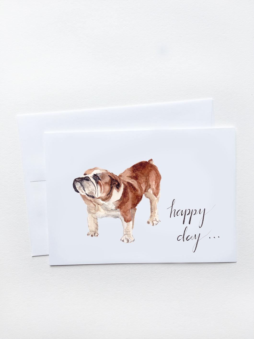 Happy Bulldog Card