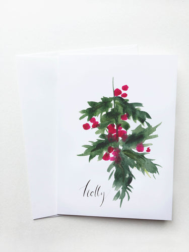 Holly Holiday Card
