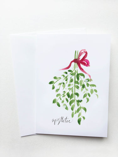 Mistletoe Holiday Card